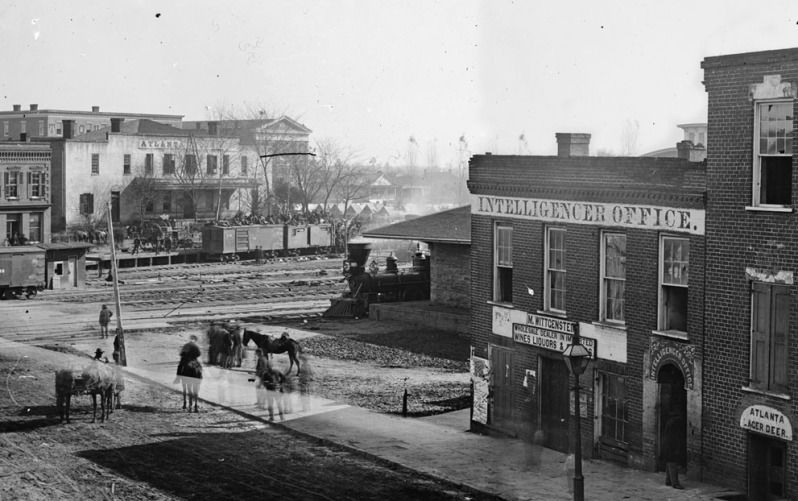 Atlanta's First Buildings In Pictures: 1830-1900 | Civil ... First Photograph 1830
