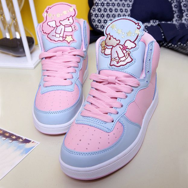 Harauku japanese cartoon little twin stars sneakers