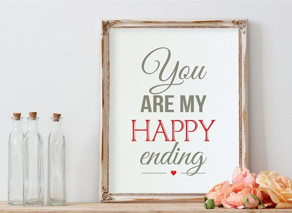 Romantic Quotes Printable Anniversary Gift Love by PrintyMuch