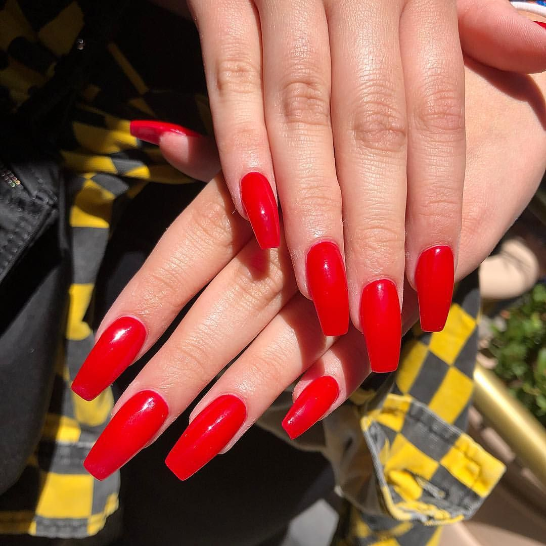 Red is always in season! 🔥❤️ #richellynailspa #nailswag
