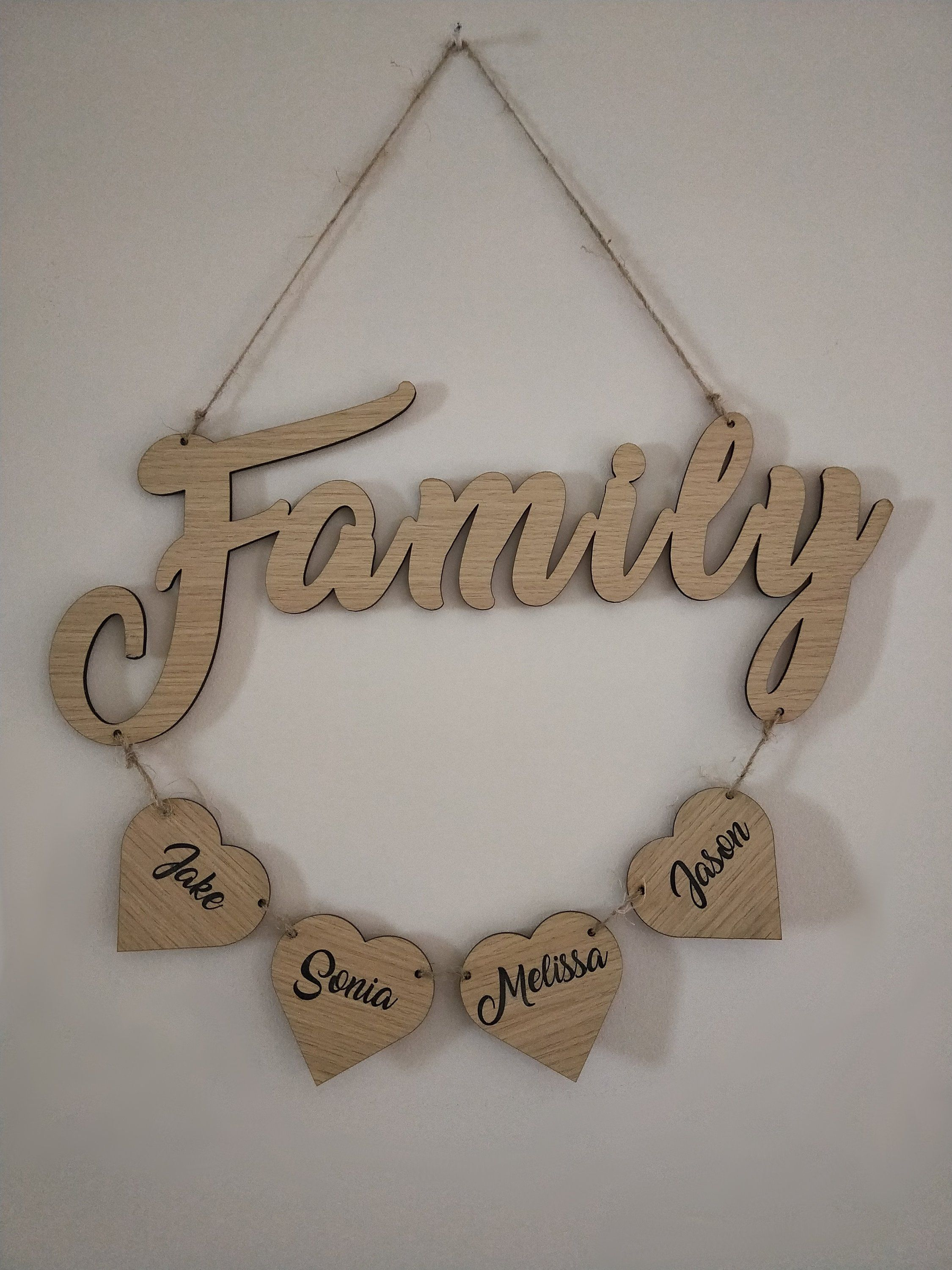 Personalised Family Wall Hanging Etsy Family Wall Personalized Family Wall Hanging