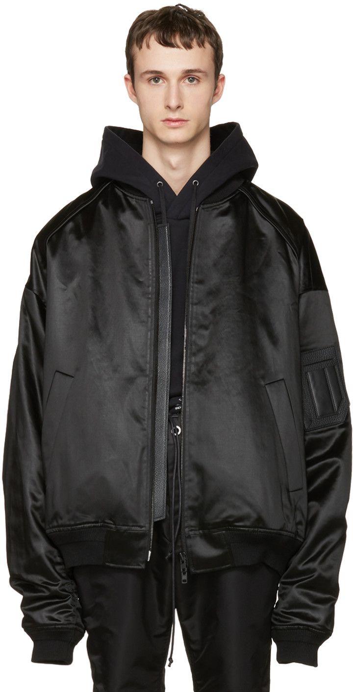 bdb60b94 JUUN.J Black Oversized Bomber Jacket. #juun.j #cloth #jacket | Juun ...