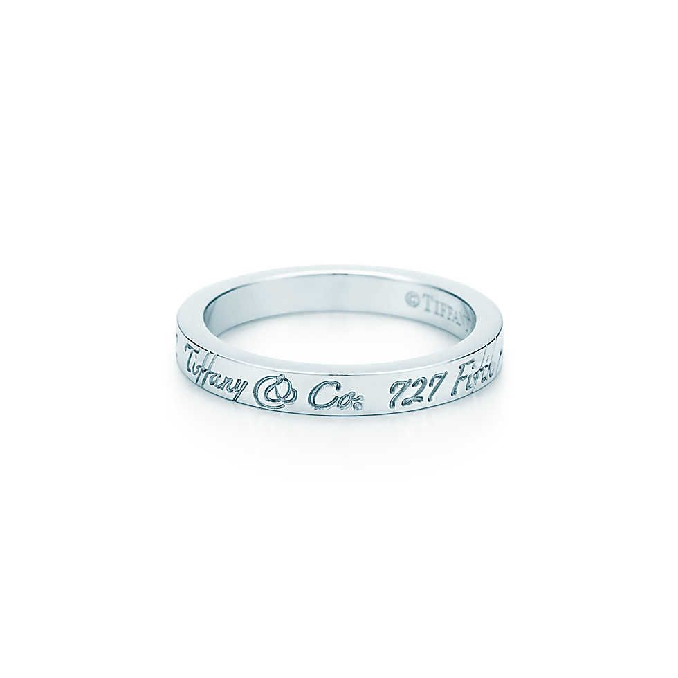Tiffany Notes band ring in sterling silver narrow