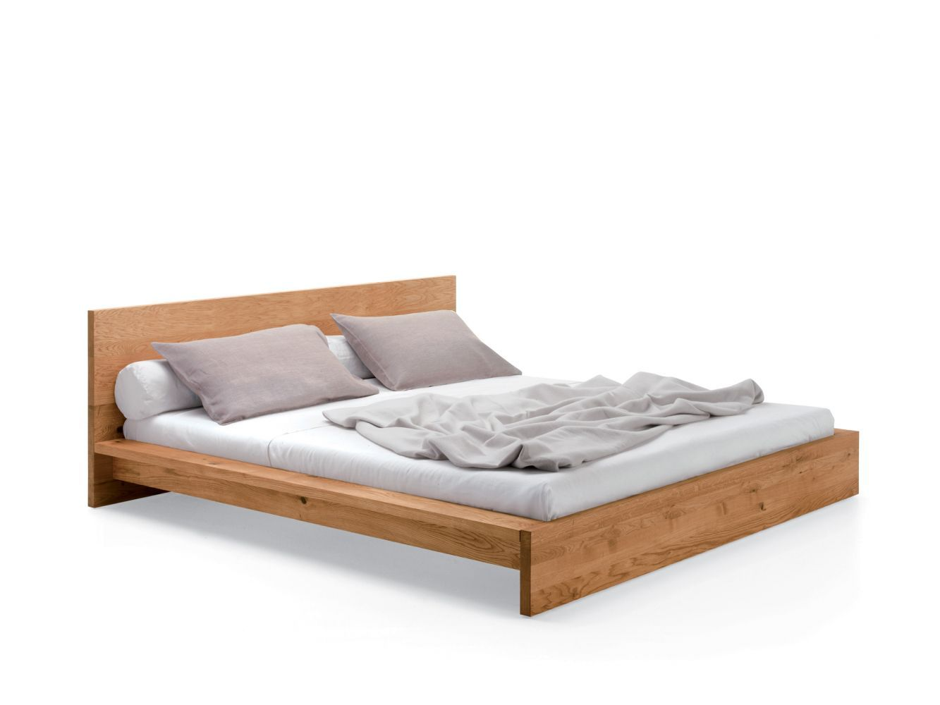 Bed with base and head made of solid wood. The standard delivery is ...