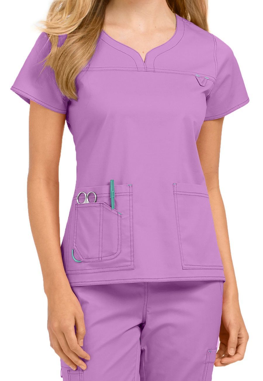 8a906f93ad6 Med Couture MC2 Lexi Top 8489 | Dress for the job you want | Scrubs ...