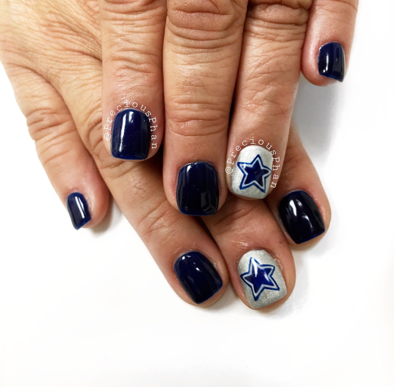 Dallas Cowboys nails. Football nails. Nfl nails. #PreciousPhan ...