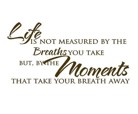 Life Is Not Measured By The Breaths We Take By Openheartcreations Enchanting Life Is Not Measured Quote