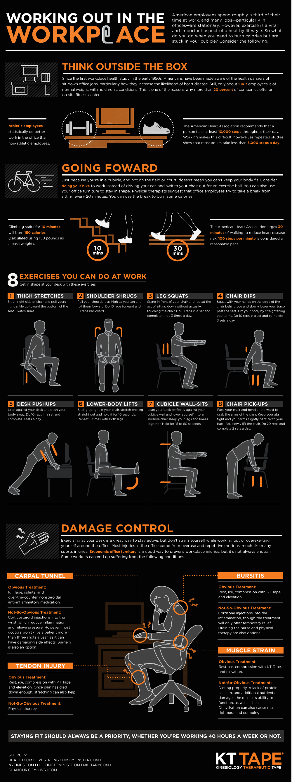 Working Out In The Workplace - 8 exercises that you can do at work!