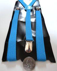 skinny blue suspenders $7