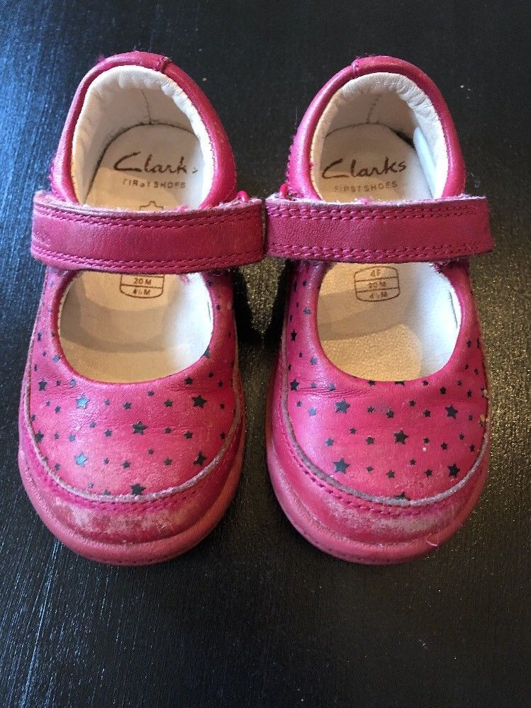 817e0d4ffdb4 Clarks First Shoes Baby Infant Red Shoes Size 4.5 M Girls Red With Black  Stars  fashion  clothing  shoes  accessories  babytoddlerclothing  babyshoes  (ebay ...