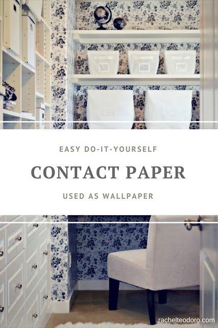 Contact Paper Used As Wallpaper Diy Diy Wallpaper Decor Sewing Closet