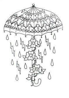 Pin By Adriana Aguilar On Tattoo Umbrella Coloring Page Coloring Pages Needlework Patterns
