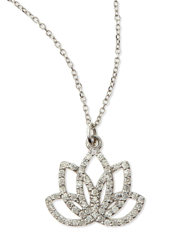 Kc designs diamond lotus flower necklace