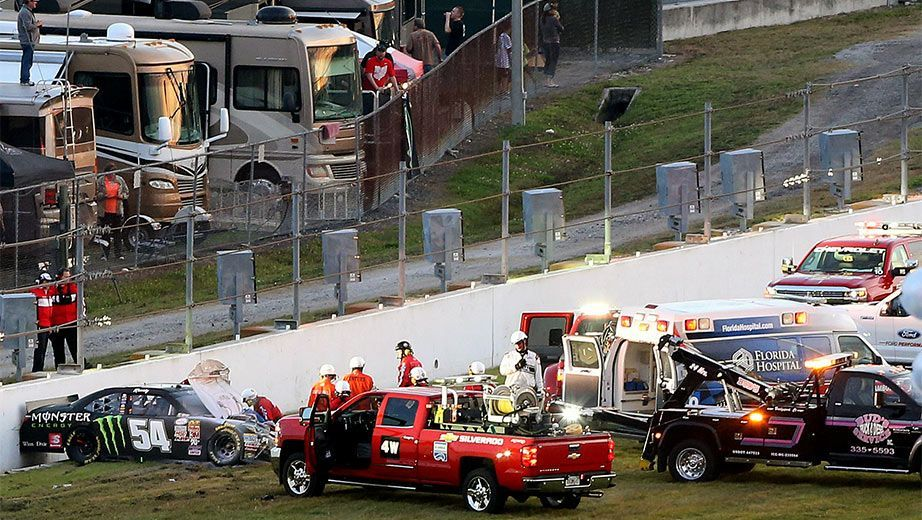 Following a crash that knocked Kyle Busch out of Sunday's