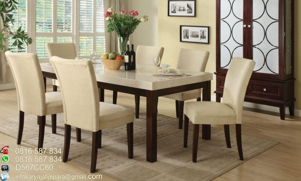 Set Meja Makan Sofa 6 Kursi Ini Didesain Dengan Model Minimalis Modern Dan Mempunyai Kontruksi Yang
