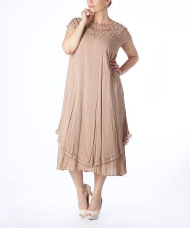 Love this Mink Layered Midi Dress  Too - Plus on #zulily! #zulilyfinds