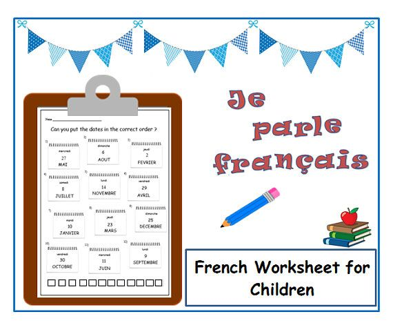 days months french learning kids worksheet language learning french teacher french for. Black Bedroom Furniture Sets. Home Design Ideas