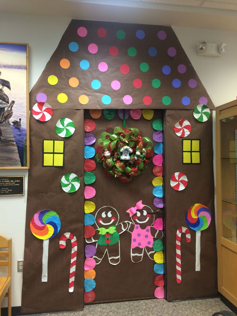 Gingerbread House for Christmas Door/ Fun Classroom door ...