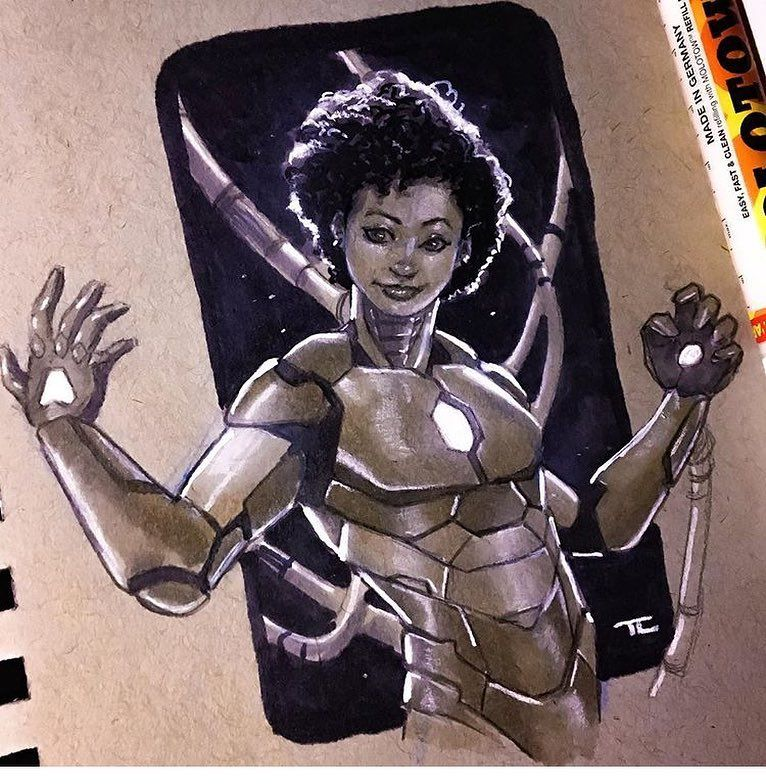 #RiriWilliams as #IronHeart by our super-talented buddy @muaadib! Looking forward to getting this guy on the Pete's Basement Show sooner than later! #InvincibleIronMan #IronMan #TonyStark