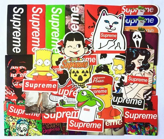 b60d0b37f2d6c Supreme 25pcs Stickers Pack For Laptop | Products in 2019 | Laptop ...
