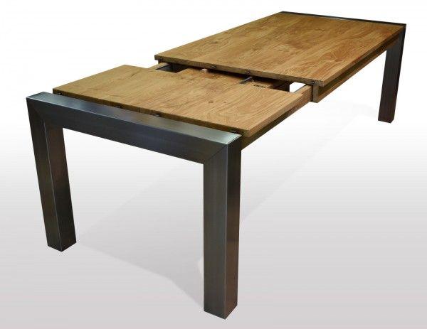 Tisch Wildeiche massiv Breite 100cm / Länge wählbar (mit