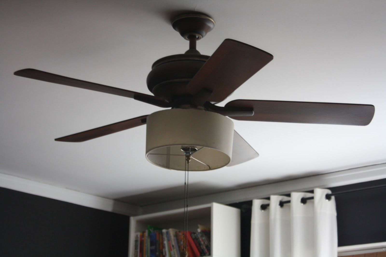 Home Decorations Ceiling Fans First Try With Drum Shade Ceiling Fan Makeover Light