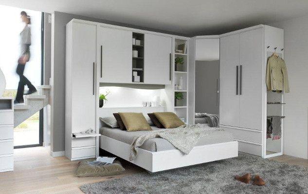 Chambre Pluriel Finition Blanc Neige Rangement Pour Petite Chambre Deco Petite Chambre Tete De Lit Dressing