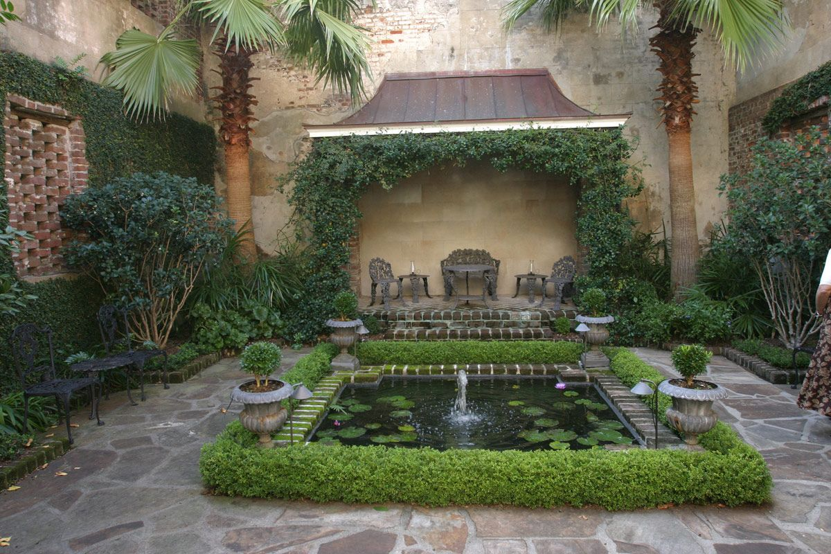 I will have a private courtyard off the master suite one for Small french courtyard gardens