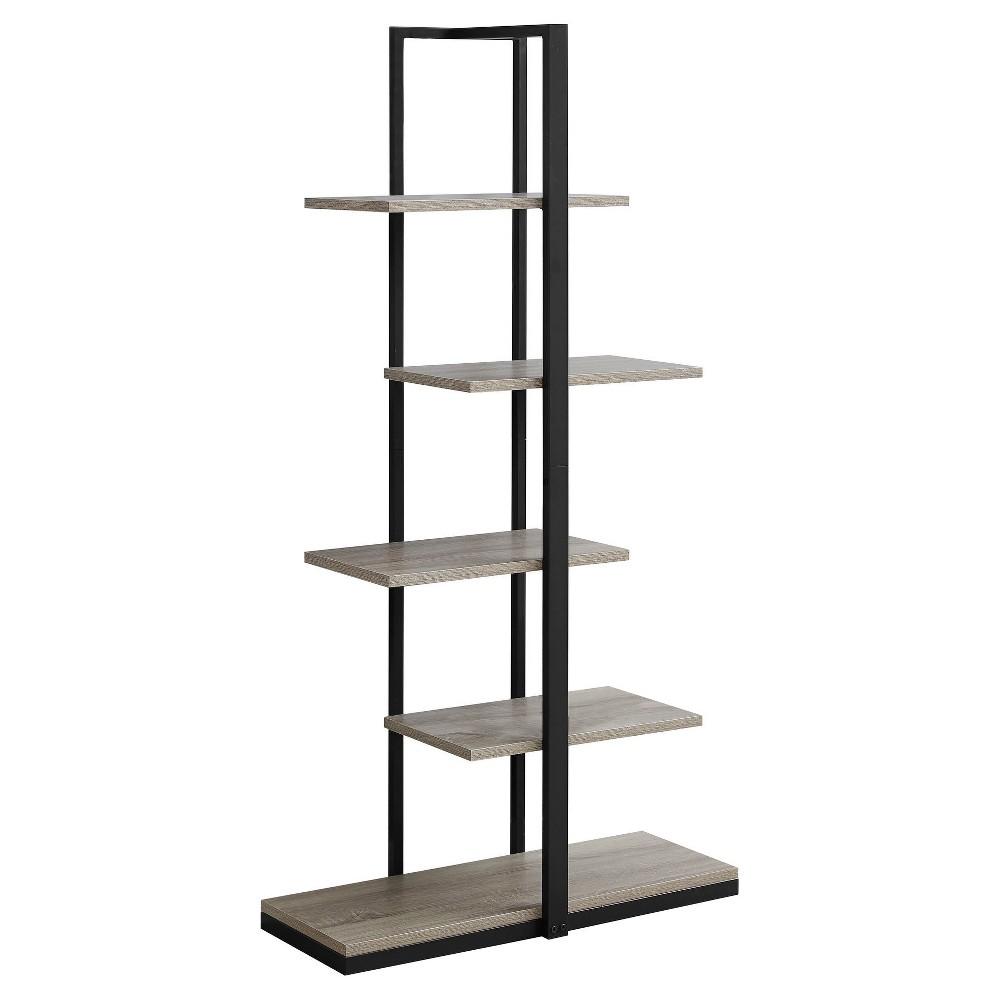 60 Bookcase Black Amp Black Metal Everyroom Metal