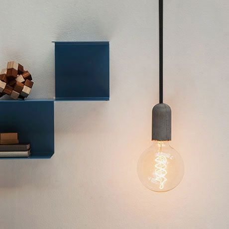 Nud flex light fittings concrete pendant black collected by leeann yare