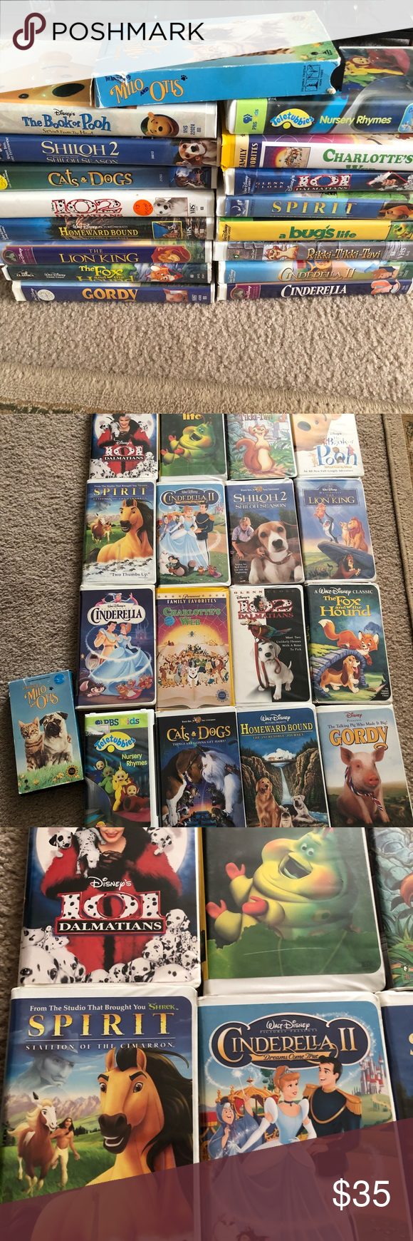 Huge vhs movie bundle The fox and the hound, Vhs movie