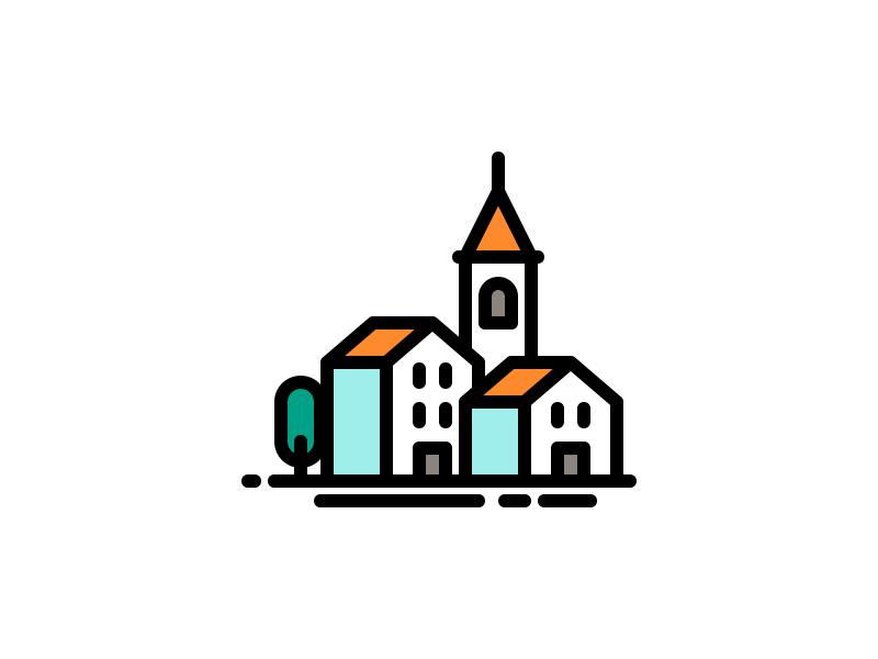 Buildings Icon Building Icon Mini Drawings City Icon