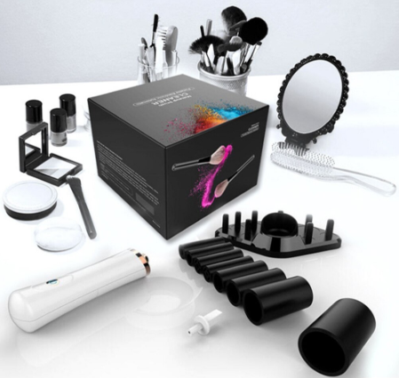 New four colors electrical Makeup Brush Cleaner drier Set