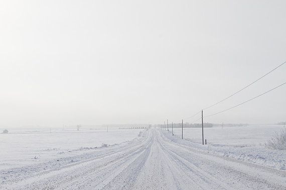 The Road Ahead  Winter Country Roads Landscape by inthisinstance, $28.00