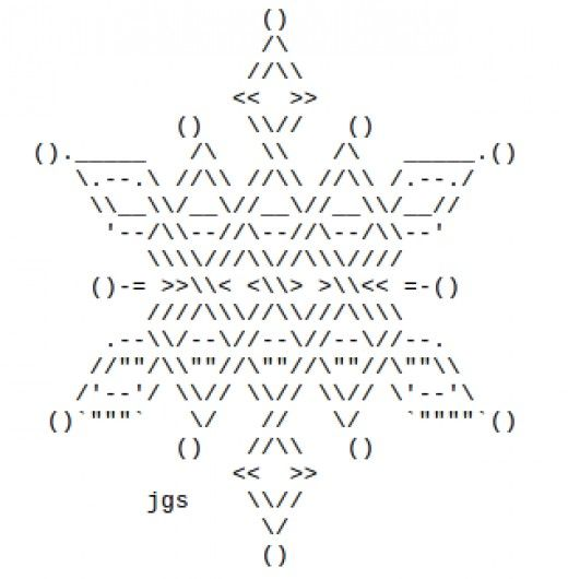 Snowflakes In Ascii Text Art Computer Art Art Ascii Art Text