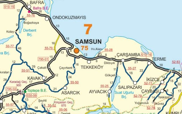 Samsun Map Maps Pinterest