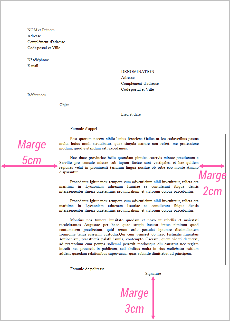 Courrier Administratif Bien Rediger Une Lettre Administrative French Lessons Word Doc French Grammar