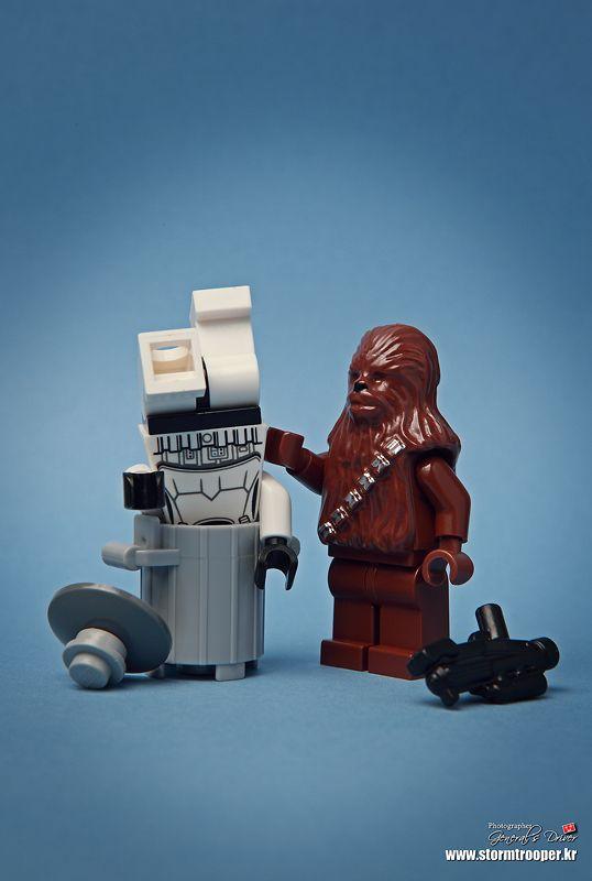 LEGO personnage accessoires arme Blaster Noir Storm SOLDAT STAR WARS 2 pièces E