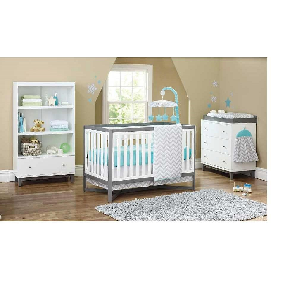 Baby cribs at toys r us - Delta Tribeca 4 In 1 Crib White And Gray Delta Babies R