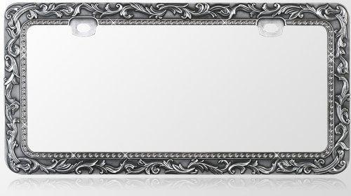 CUSTOM MADE Chrome BLACK HOT PINK License Plate Frame Tag Holder  Cover Aluminum