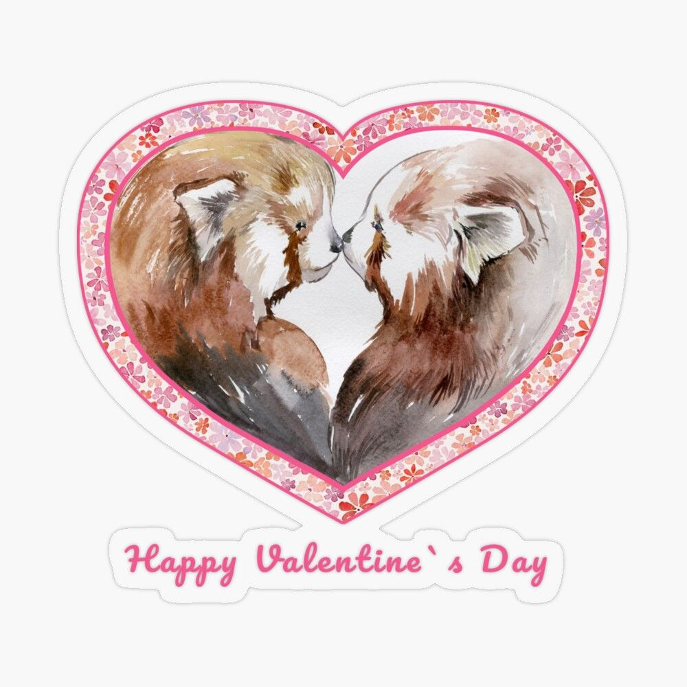 Valentine S Day Red Panda Red Panda Lovers Transparent Sticker By Cute Pawz In 2021 Red Panda Valentines Cards How Train Your Dragon