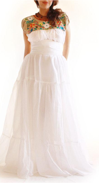 This wedding dress is a STUNNING way to bring in some