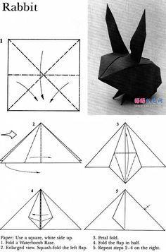 cute rabbit origami diagrams z papieru pinterest origami rh pinterest com Easy Origami Flowers Origami Turtle Step by Step