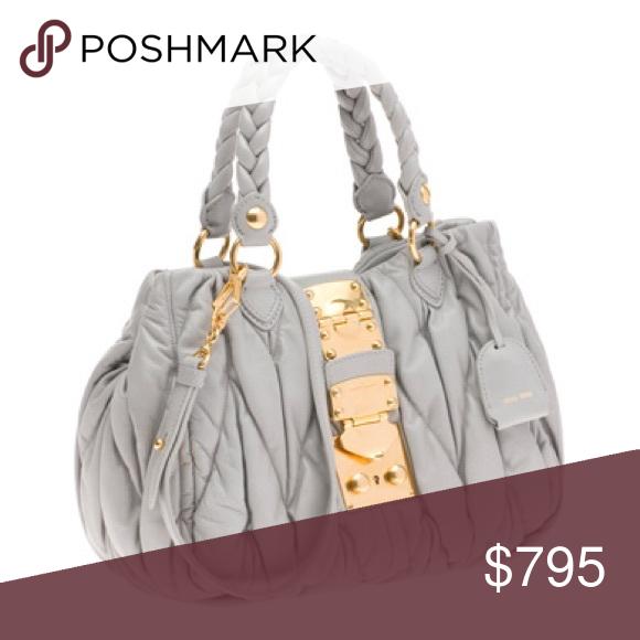 8808be9a77be Spotted while shopping on Poshmark  Miu Miu Matelasse Nappa Leather Tote!   poshmark  fashion  shopping  style  Handbags