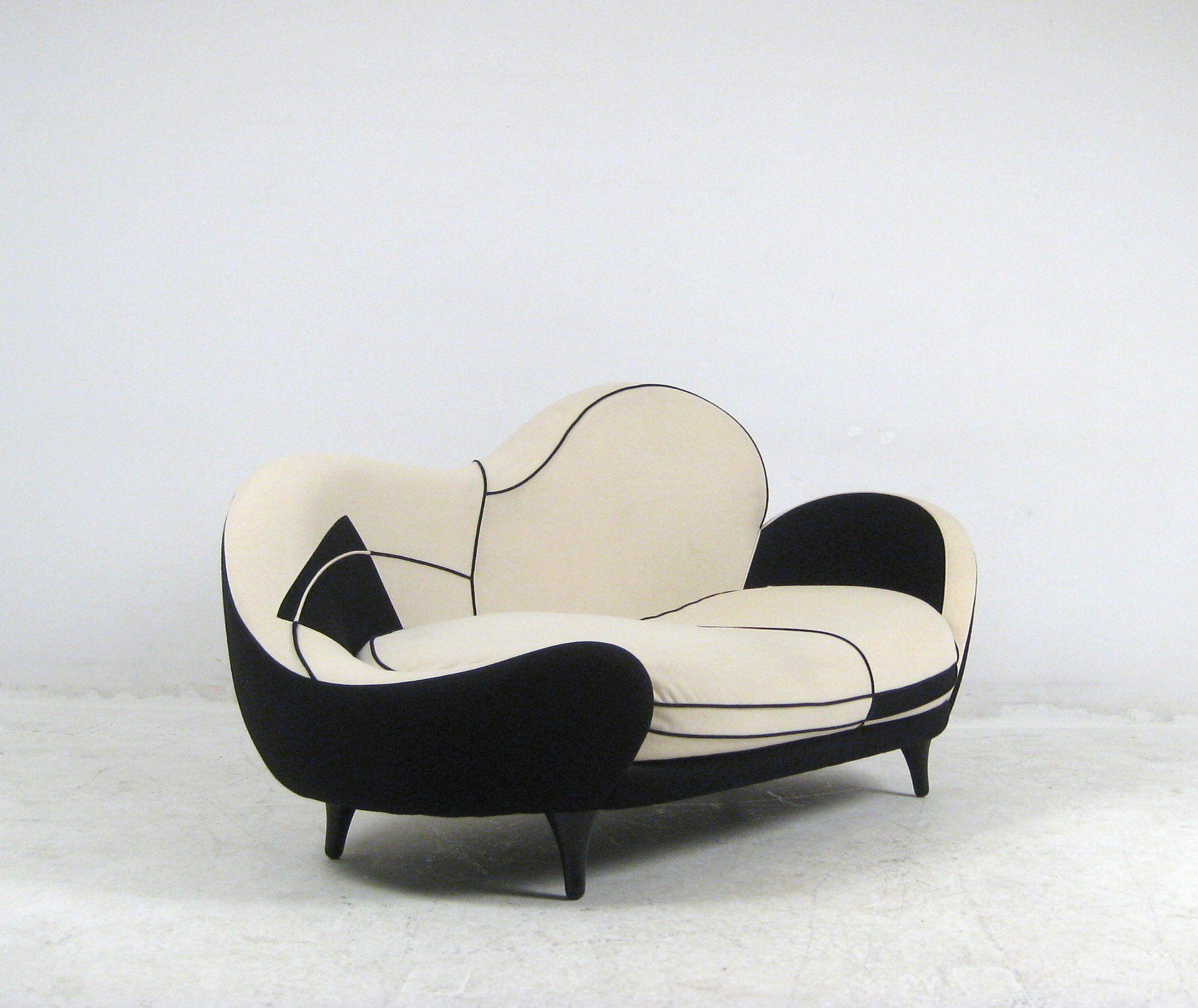 Sofa Saula Marina Aus Der LOS MUEBLES AMOROSOS Serie, Design Von Javier  Mariscal Für Moroso