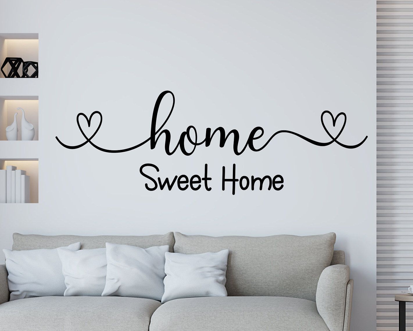 Home Sweet Home Wall Decal Family Wall Decal Home Sweet Home Etsy Family Wall Decals Large Wall Decor Family Wall