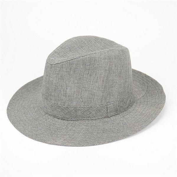 a6b126890 Men Women Flax Straw Jazz Hats Beach Sun Cap   Beautiful hats   Hats ...