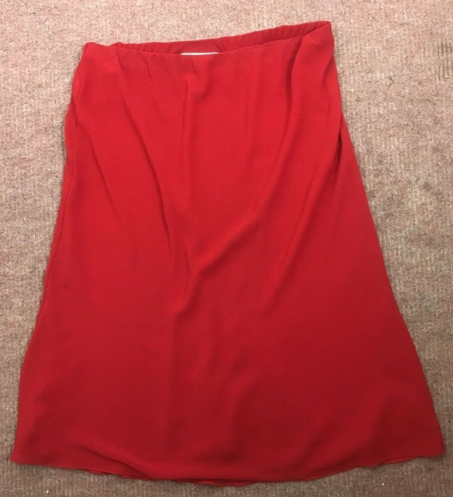 5f9c0123a9 RED SKIRT - Size 16 - Elasticated Waistband - Light lined - 30