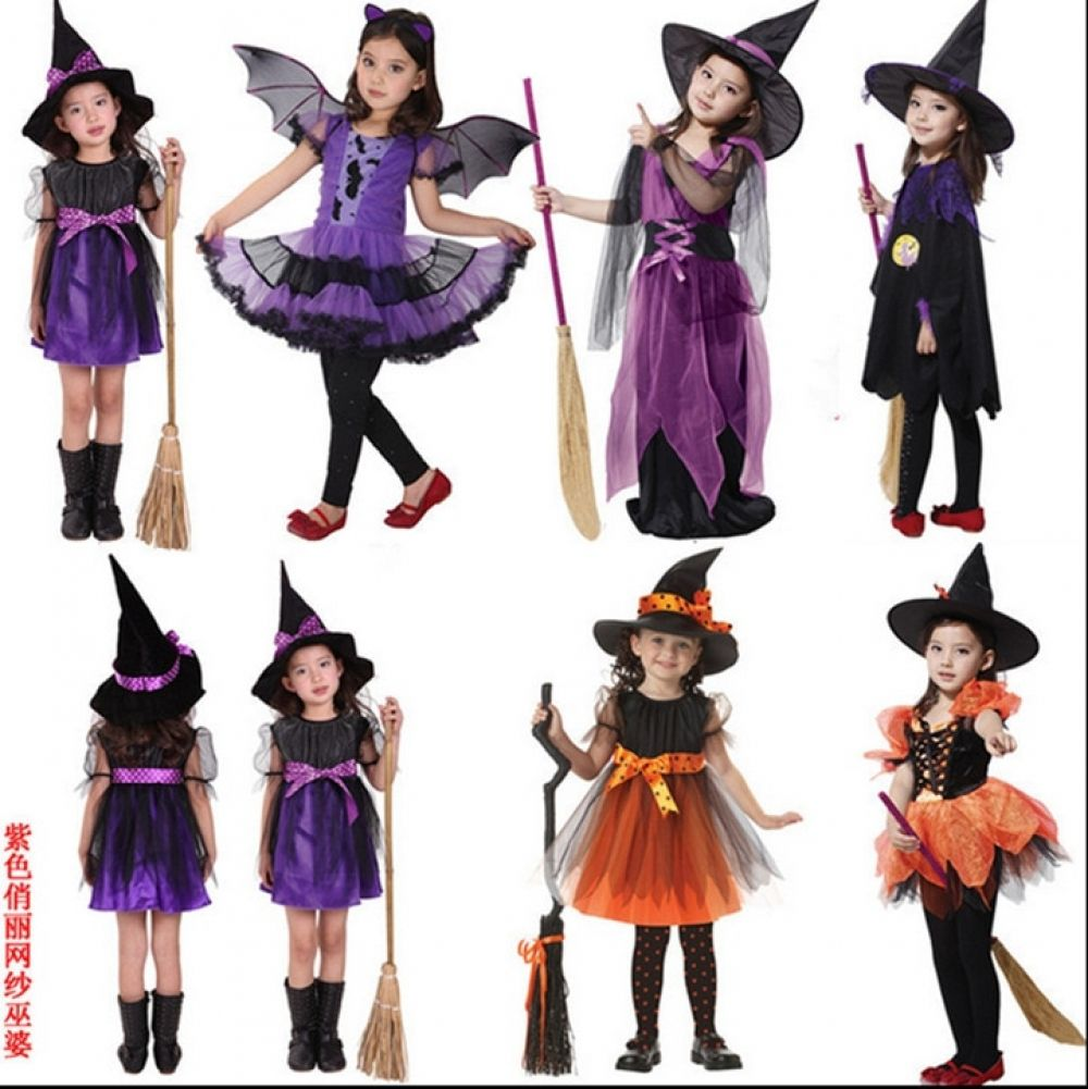 Halloween Costume For Kids Vampire Witch Princess Carnival Costume