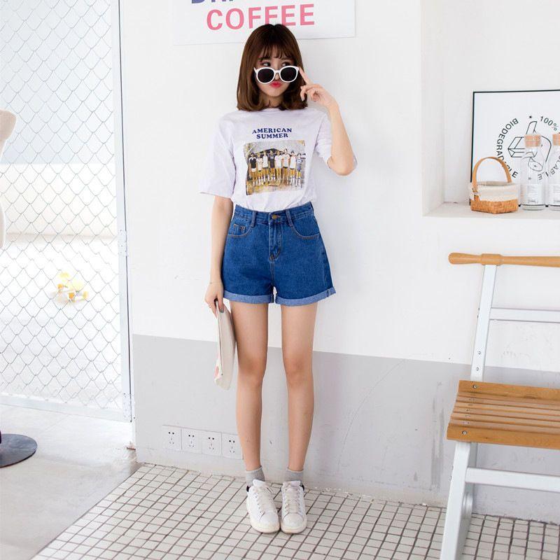 Ashlee Cuffed Denim Shorts Yesstyle Korean Fashion Shorts Cuffed Denim Fashion
